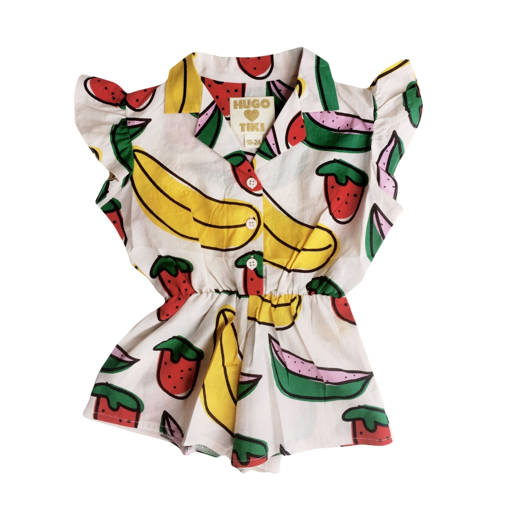 fruit ruffle playsuit